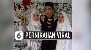 Jika biasanya pernikahan dilaksanakan oleh seorang pria dan wanita. Beda dengan pernikahan unik ini. Seorang pria asal Malaysia menggelar pernikahan dengan dua wanita sekaligus.