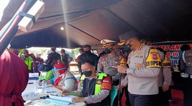 Pemudik Dinyatakan Reaktif Hasil Rapid Tes Antigen di Cirebon