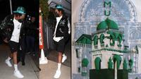 Potret Jay-Z yang belum lama ini mengenakan kaus dengan gambar Masjid Riyadha. (Dok. Twitter @SamiaOBwana/Dinda Rizky)
