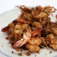 Resep menu sahur di bulan Ramadan, Udang Goreng Ketumbar. foto: infomakan.com