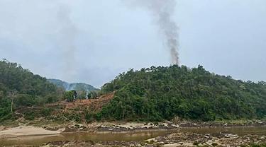 FOTO: Pangkalan Militer Myanmar Diserang Pemberontak Etnis Karen