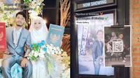 Viral Pasangan Ini Gelar Pernikahan di Bioskop. (Sumber: TikTok/ @didekorin_official)