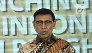 Menko Polhukam Wiranto memberi sambutan saat memberikan piagam penghargaan Indeks Demokrasi Indonesia (IDI) 2017 di Jakarta, Kamis (13/12). BPS memberikan penghargaan kepada empat provinsi peraih IDI terbaik. (Merdeka.com/Iqbal Nugroho)