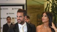 Cesc Fabregas dan Daniella Semaan. (AFP/Eitan Abramovich)