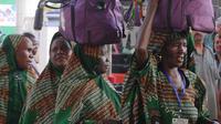 Jemaah Haji Nigeria di Bandara King Abdul Aziz. Darmawan/MCH