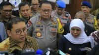 Rombongan anggota DPR RI menemui Gubernur Jawa Timur Khofifah Indar Parawansa (Foto:Liputan6.com/Dian Kurniawan)