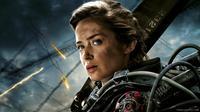 Emily Blunt yang menjadi aktris utama Edge of Tomorrow bersama Tom Cruise, dikabarkan bakal memainkan karakter Captain Marvel. (theartmad.com)