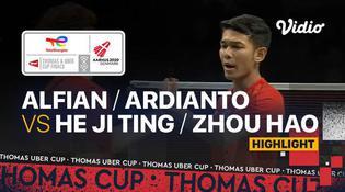 VIDEO Final Piala Thomas 2020: Fajar Alfian / Muhammad Rian Ardianto Menang, Indonesia Unggul atas China 2-0