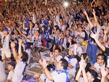 Ratusan anggota Inter Club Indonesia memadati acara puncak Gathering Nasional ke-4 di GWK, Bali, Sabtu (29/8/2015). (Bola.com/Vitalis Yogi Trisna)