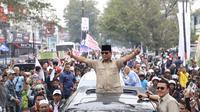 Capres Prabowo kampanye di Cianjur Jawa Barat.