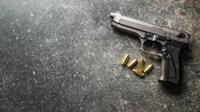 Ilustrasi pistol. (iStockphoto)