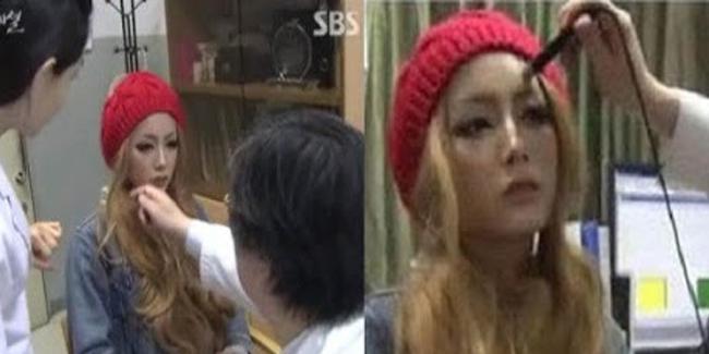 proses penghapusan makeup Dal Min Bae. Source SBS