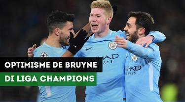 Jelang Liverpool Vs Manchester City, Kevin De Bruyne yakin The Citizen akan raih gelar juara Liga Champions 2018.