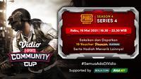 Streaming Vidio Community Cup Season 4 : PUBG Mobile Series 4 di Vidio. (Sumber : dok. vidio.com)