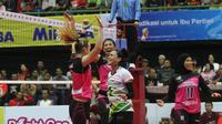 Putri Jakarta Pertamina Energi memenangi dua laga pada pekan pertama kompetisi bola voli Proliga 2018 di GOR UNY Yogyakarta, 19-21 Januari 2018. (Humas PBVSI)