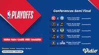 Jadwal Pertandingan dan Live Streaming NBA 2020/2021 Semifinal Conference Pekan Ini di Vidio. (Sumber : dok. vidio.com)