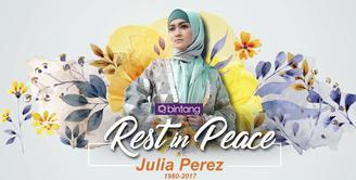 Luna Maya dan Ruben Onsu mengawal jenazah Julia Perez yang akan dimasukan ke dalam ambulans.