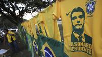Foto salah satu kandidat terkuat dalam Pemilu Presiden Brasil (AP/Eraldo Peres)