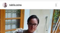 Zeina Nabila Down Syndrome Foto: Tangkapan Layar Instagram nabila.zeina (8/10/2020).