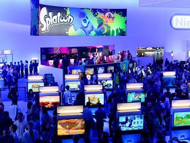 Ajang pameran game terbesar di dunia, Electronic Entertainment Expo (E3), berlangsung di Los Angeles, Amerika Serikat, (10/6/2014). (REUTERS/Kevork Djansezian)