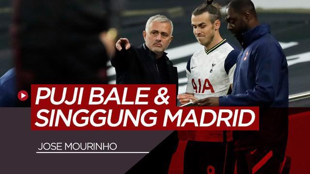 Berita video pujian Jose Mourinho kepada Gareth Bale setelah Tottenham Hotspur menang 2-1 Vs Brighton. Mou juga menyinggung soal Real Madrid