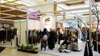 Booth Balai Besar Pengembangan Latihan Kerja (BBPLK) di Muslim Fashion Festival (MUFFEST) 2020 di JCC, Senayan, Jakarta, 20--23 Februari 2020. (Liputan6.com/Asnida Riani)