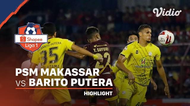 Berita video highlights Shopee Liga 1 2020 antara PSM Makassar melawan Barito Putera yang berakhir dengan skor 1-1 di Stadion Gelora Andi Mattalatta, Minggu (15/3/2020).