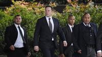 Elon Musk dalam pengadilan kasus pencemaran nama baik. Dok: AP