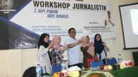 STAIM Blora menggandeng Liputan6.com menggelar pelatihan jurnalistik (Liputan6.com/ Ahmad Adirin)