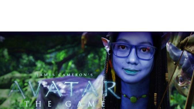 (Foto: @odeordnailuy/Twitter) Udah cantik-cantik diedit jadi karakter film Avatar.