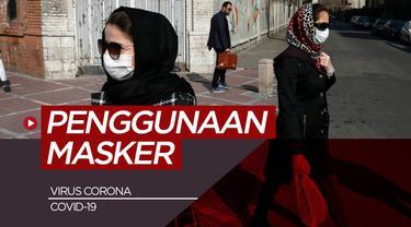 Berita motion grafis penggunaan masker yang benar saat pandemi Virus Corona Covid-19.