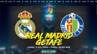 La Liga - Real Madrid Vs Getafe (Bola.com/Adreanus Titus)