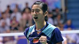 1. Wang Lin - Pemain yang sempat disegani awal tahun 2010 tak hanya cantik namun berperestasi. Namun prestasi tunggal putri China ini langsung menurun usai mengalami cedera parah di China Master 2010. (AFP/Miguel Medina)
