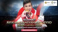 Peraih medali emas Asian Games 2018 cabang karate nomor kumite 60 kg, Rifki Ardiansyah. (Bola.com/Foto: Peksi Cahyo /Grafis: Dody Iryawan)
