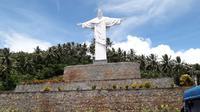 Patung Tuhan Yesus di Dorbolaang, Lembeh  Selatan, Bitung, Sulawesi Utara (Liputan6.com/Komarudin)