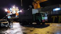 Pengiriman barang kebutuhan Natal dan Tahun Baru dilakukan dengan memanfaatkan kapal tol laut KM. Maura Mas yang dioperatori oleh  PT Temas. (Foto: Kemenhub)