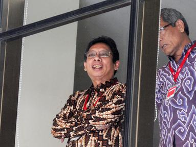 Dirjen Perdagangan Luar Negeri Kemendag Indrasari Wisnu Wardhana menunggu pemeriksaan di Gedung KPK, Jakarta, Kamis (31/10/2019). Indrasari diperiksa sebagai saksi untuk tersangka mantan Dirut Risyanto Suanda terkait dugaan suap kuota impor ikan tahun 2019 di Perum Perindo. (merdeka.com/Dwi Narwoko)