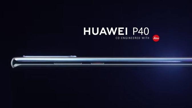 Gambar render Huawei P40 Pro bocor di internet. (Doc: OnLeaks)