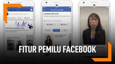 Fitur Facebook Terbaru, Info Kandidat Pemilu 2019