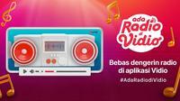 Jangan Ketinggalan untuk Mendengarkan lagu dan Berita Terbaru Lewat Radio Kesayangan Kamu di Vidio. (Sumber : dok. vidio.com)
