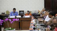 Wali Kota Risma itu adalah menerima kunjungan tamu dari Lembaga Ketahanan Nasional (Lemhannas) Republik Indonesia.(Liputan6.com/Dian Kurniawan)