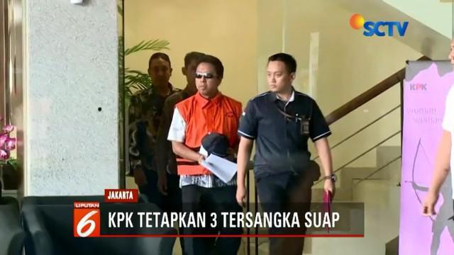 KPK telah menetapkan tiga tersangka terkait kasus suap pengisian jabatan di Kementerian Agama.