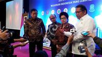 Ditemui dalam acara 'Pertemuan Koordinasi Tim Nusantara Sehat Batch 9, 10, 11 di Jakarta, Selasa (6/8/2019), Menkominfo Rudiantara mengungkapkan, pasang internet di faskes daerah 3T termasuk sulit. (Liputan6.com/Fitri Haryanti Harsono)