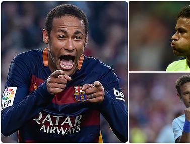 Ragam Gaya Selebrasi Gol Neymar Saat di Barcelona