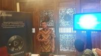 Country Head Dassault Systemes, Adi Aviantoro, berbicara tentang konsep kota masa depan Indonesia di Jakarta, Rabu 23 Januari 2019 (Liputan6.com/Happy Ferdian)