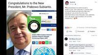 [Cek Fakta] Sekjen PBB