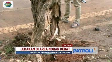 Penyelidikan sementara, polisi menyebutkan bahwa ledakan yang terjadi saat pelaksanaan nobar debat capres di kawasan GBK, akibat petasan.