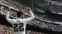 4. Isco, dikabarkan AS, jika pelatih Real Madrid, Zinedine Zidane, memasukannya ke dalam daftar jual. Juventus, City dan juga Arsenal menjadi klub terdepan yang berpotensi menampung gelandang asal Spanyol itu. (AFP/Curto De La Torre)