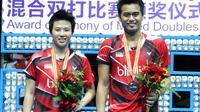 Ganda campuran Indonesia, Tontowi Ahmad/Liliyana Natsir, menjadi runner-up Kejuaraan Asia Bulutangkis 2016 di Wuhan, China. (Bola.com/PBSI)