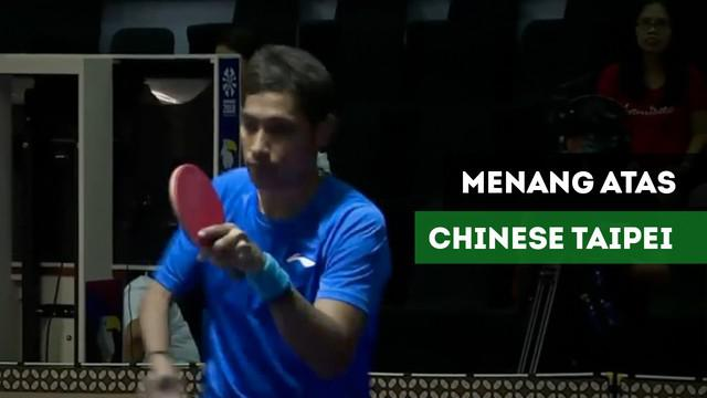 Berita video David Jacobs kalahkan atlet tenis meja Chinese Taipei, Yao Tang Lee.